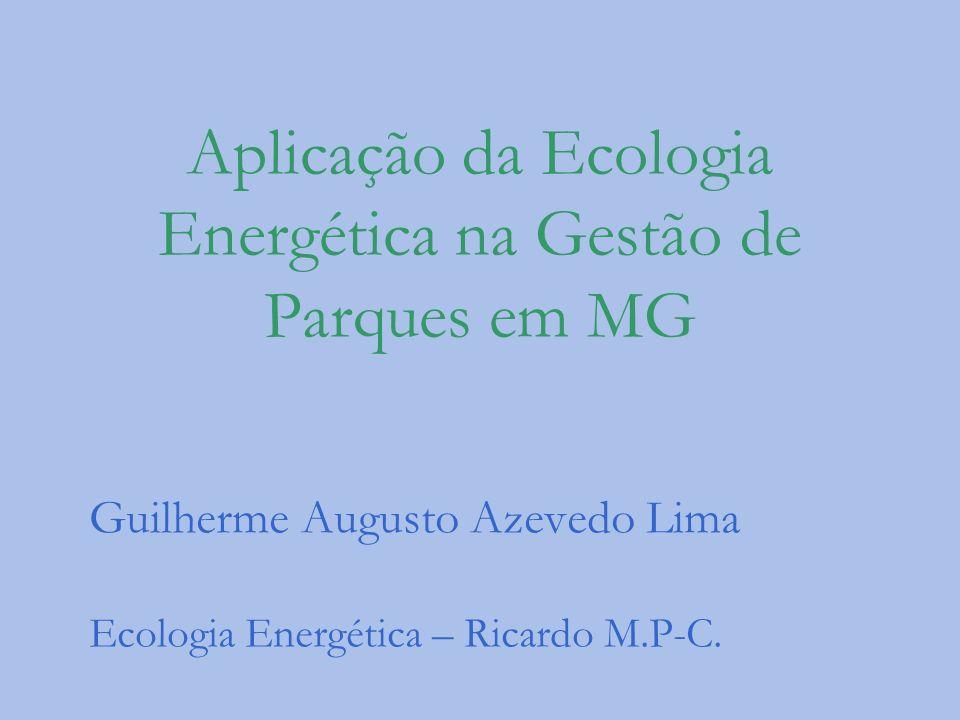 Aplicação da Ecologia Energética na Gestão de Parques em MG Guilherme Augusto Azevedo Lima Ecologia Energética – Ricardo M.P-C.