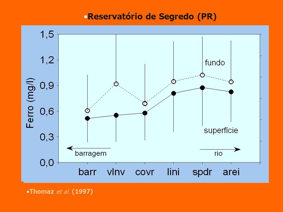 Reservatório de Segredo (PR) Thomaz et al. (1997)