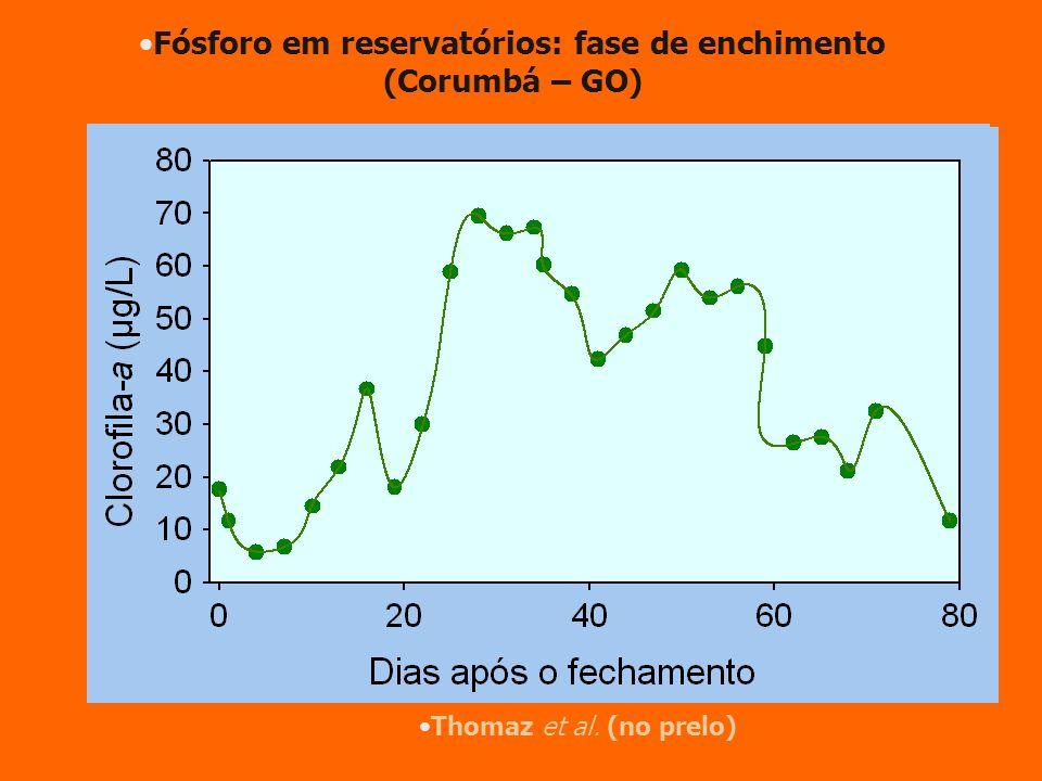 Thomaz et al. (no prelo) Fósforo em reservatórios: fase de enchimento (Corumbá – GO)