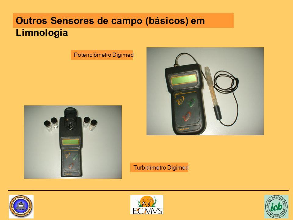 Outros Sensores de campo (básicos) em Limnologia Turbidímetro Digimed Potenciômetro Digimed