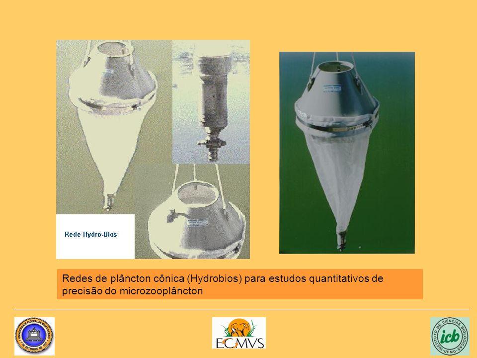 Redes de plâncton cônica (Hydrobios) para estudos quantitativos de precisão do microzooplâncton