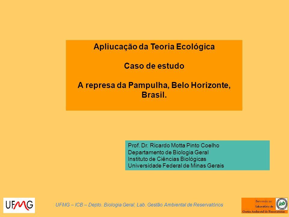 Apliucação da Teoria Ecológica Caso de estudo A represa da Pampulha, Belo Horizonte, Brasil.