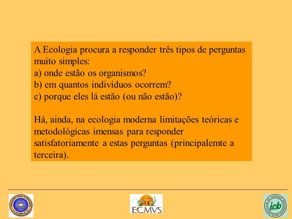 Os ecossistemas podem ser classificados ou agrupados segundo alguns de seus atributos: a) primitividade (presença no tempo geológico) b) padrões definidos sejam eles fisiográficos, climáticos, biológicos e/ou geoquímicos.