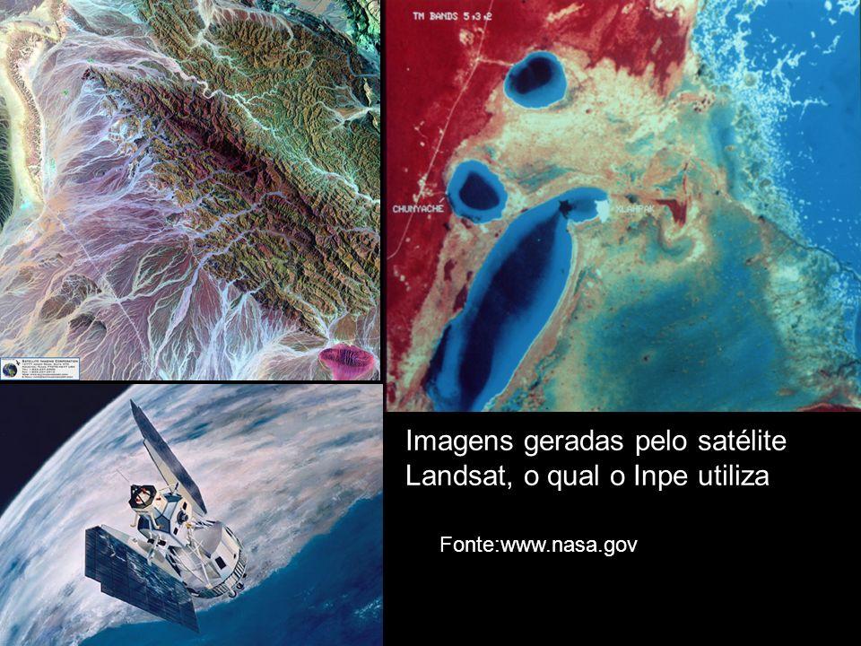 Imagens geradas pelo satélite Landsat, o qual o Inpe utiliza Fonte:www.nasa.gov