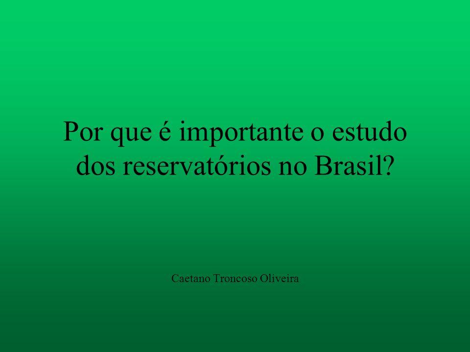 Por que é importante o estudo dos reservatórios no Brasil? Caetano Troncoso Oliveira