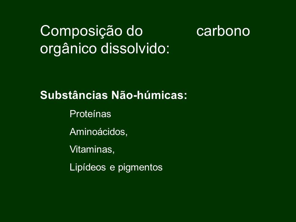 Substâncias Húmicas: Ácidos húmicos Ácidos fúlvicos Huminas