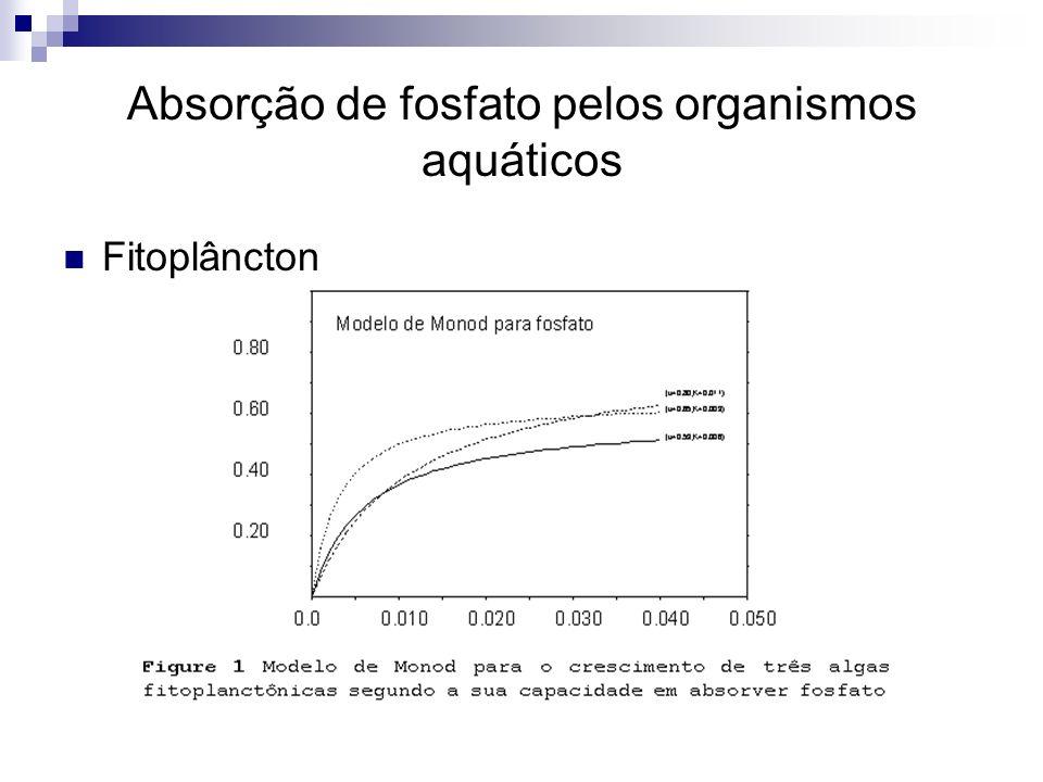 Absorção de fosfato pelos organismos aquáticos Fitoplâncton