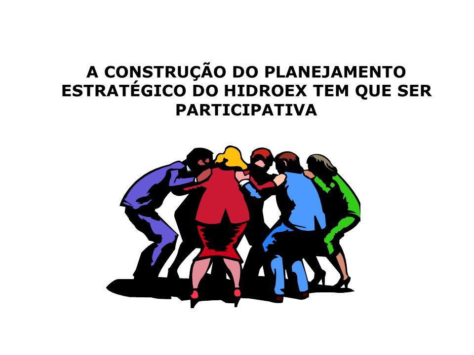 A CONSTRUÇÃO DO PLANEJAMENTO ESTRATÉGICO DO HIDROEX TEM QUE SER PARTICIPATIVA
