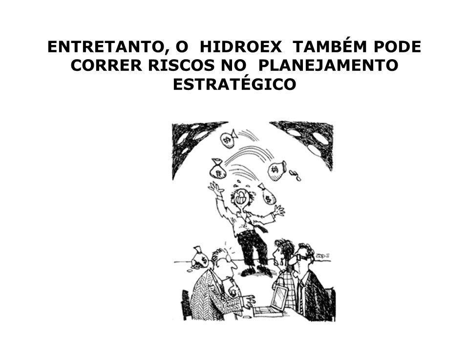 ENTRETANTO, O HIDROEX TAMBÉM PODE CORRER RISCOS NO PLANEJAMENTO ESTRATÉGICO
