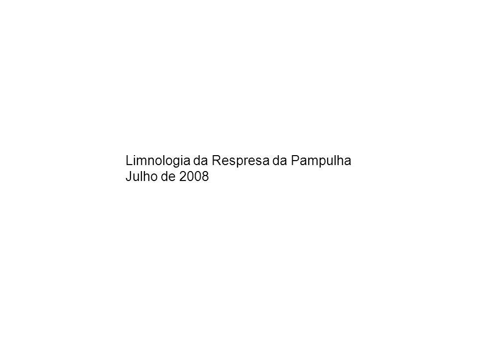 Limnologia da Respresa da Pampulha Julho de 2008