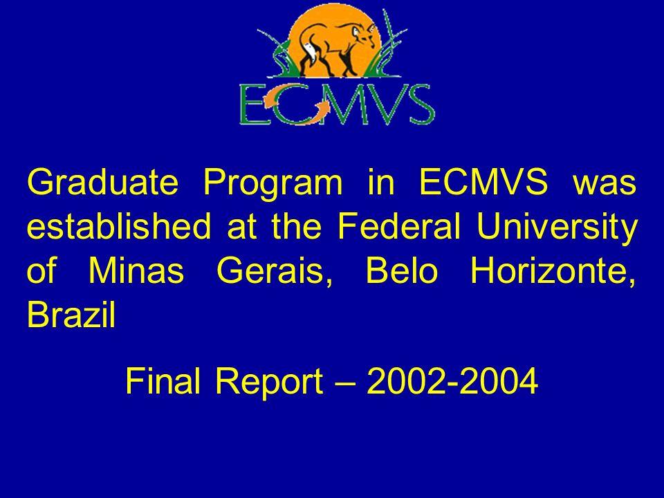 The Graduate Program in ECMVS was established at the Federal University of Minas Gerais, Belo Horizonte, Brazil, in mid-1988.