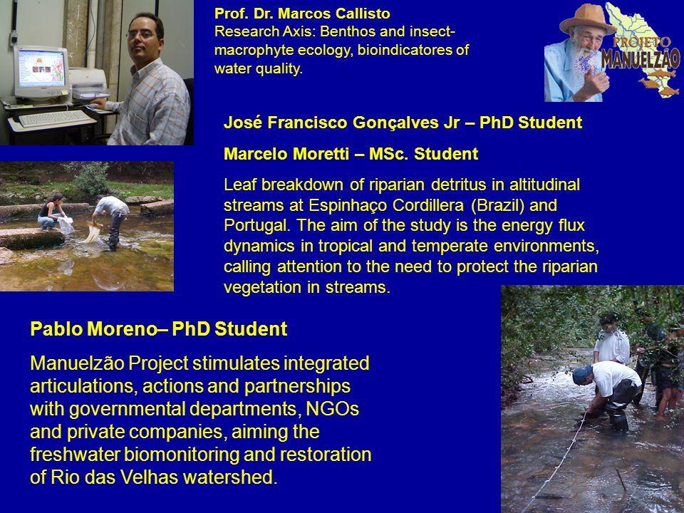 José Francisco Gonçalves Jr – PhD Student Marcelo Moretti – MSc. Student Leaf breakdown of riparian detritus in altitudinal streams at Espinhaço Cordi