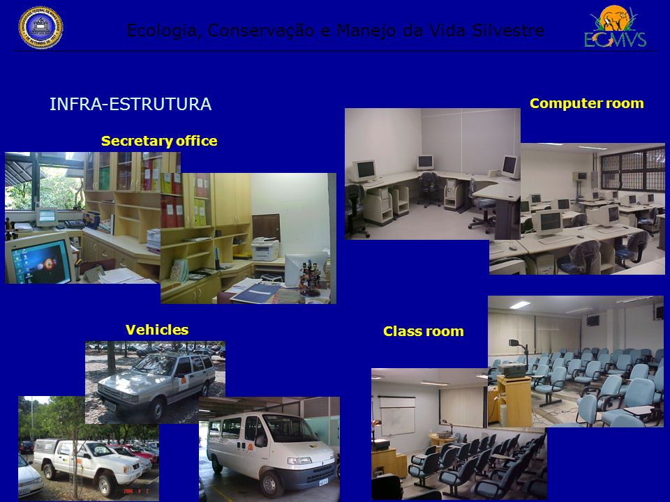 INFRA-ESTRUTURA Secretary office Vehicles Class room Computer room