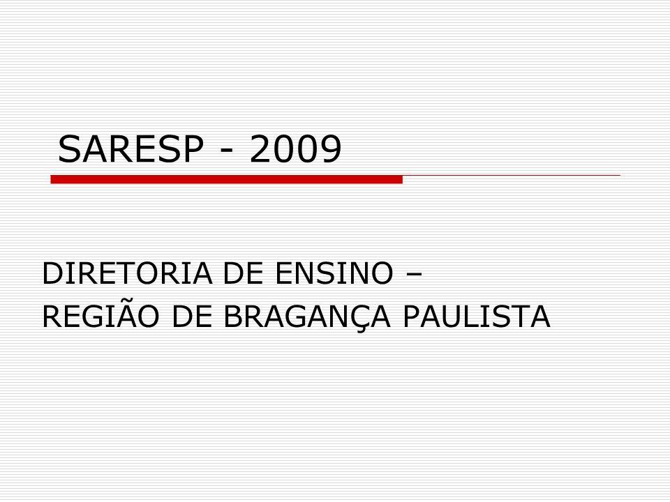 SARESP - 2009 DIRETORIA DE ENSINO – REGIÃO DE BRAGANÇA PAULISTA