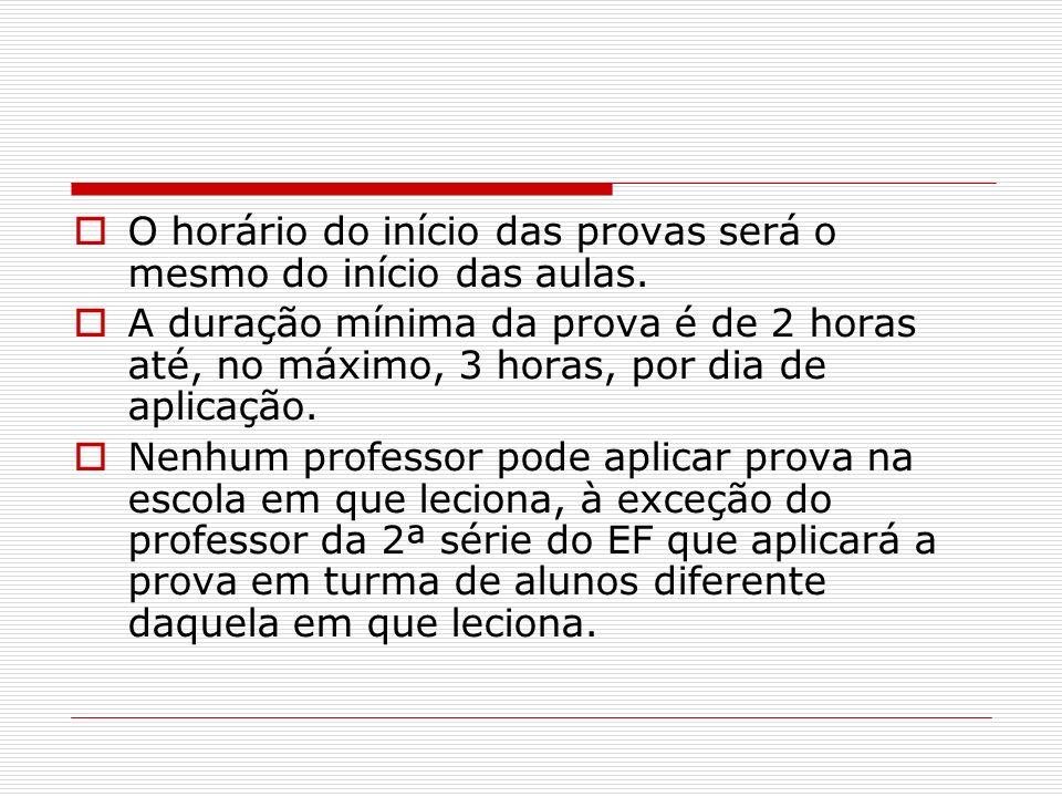 Devolução – 2º momento (13 e 16/11/2009) 1.Provas Especiais 1º dia Conteúdo: Língua Portuguesa 2.