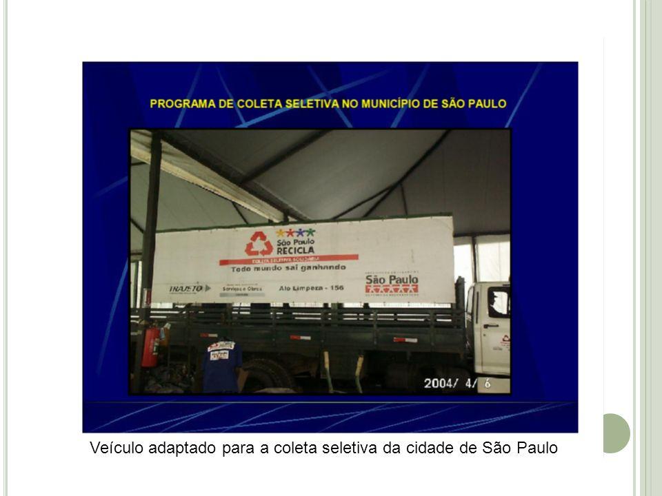 Veículo adaptado para a coleta seletiva da cidade de São Paulo