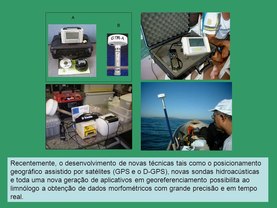 Recentemente, o desenvolvimento de novas técnicas tais como o posicionamento geográfico assistido por satélites (GPS e o D-GPS), novas sondas hidroacú