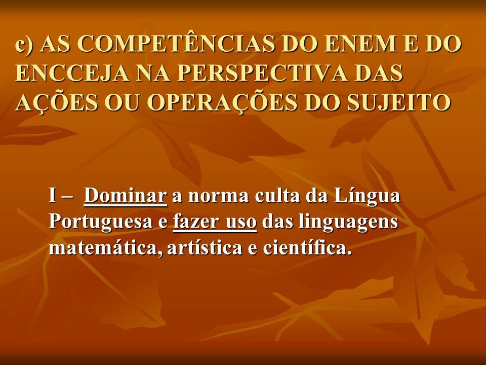 a) ESCRITA: correção, coerência e consistência textual; fazer uso da argumentação.