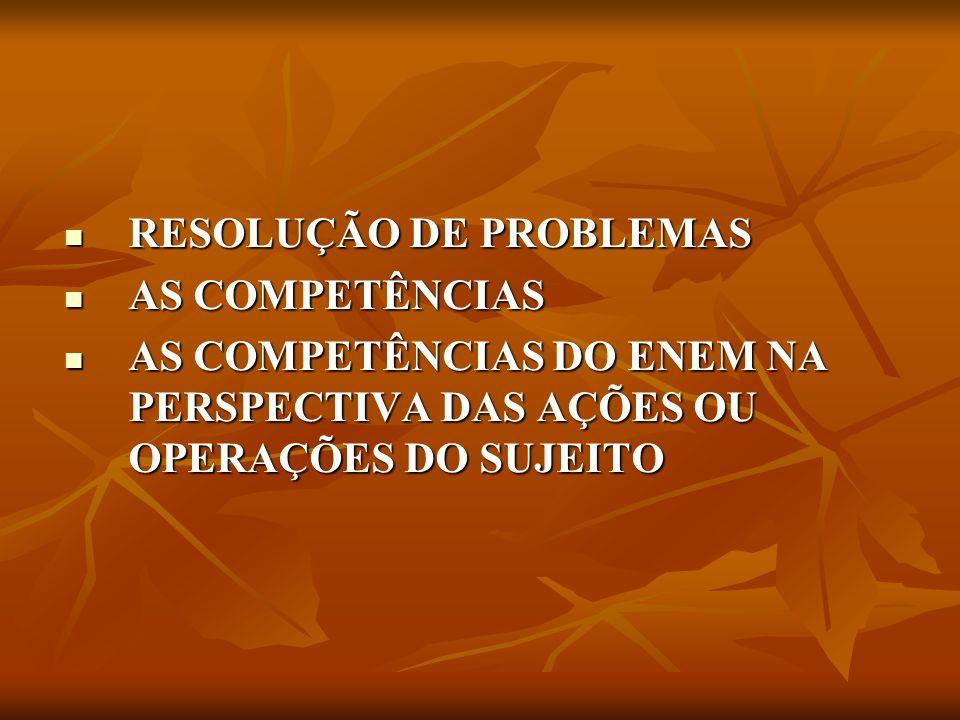 a) RESOLUÇÃO DE PROBLEMAS O enfrentamento de situações-problema constitui uma condição que sempre acompanhou a vida do ser humano.