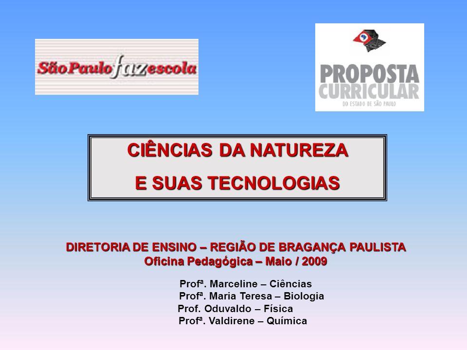 DIRETORIA DE ENSINO – REGIÃO DE BRAGANÇA PAULISTA Oficina Pedagógica – Maio / 2009 PCOP: Oduvaldo