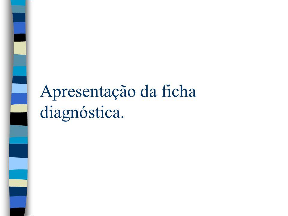 Apresentação da ficha diagnóstica.