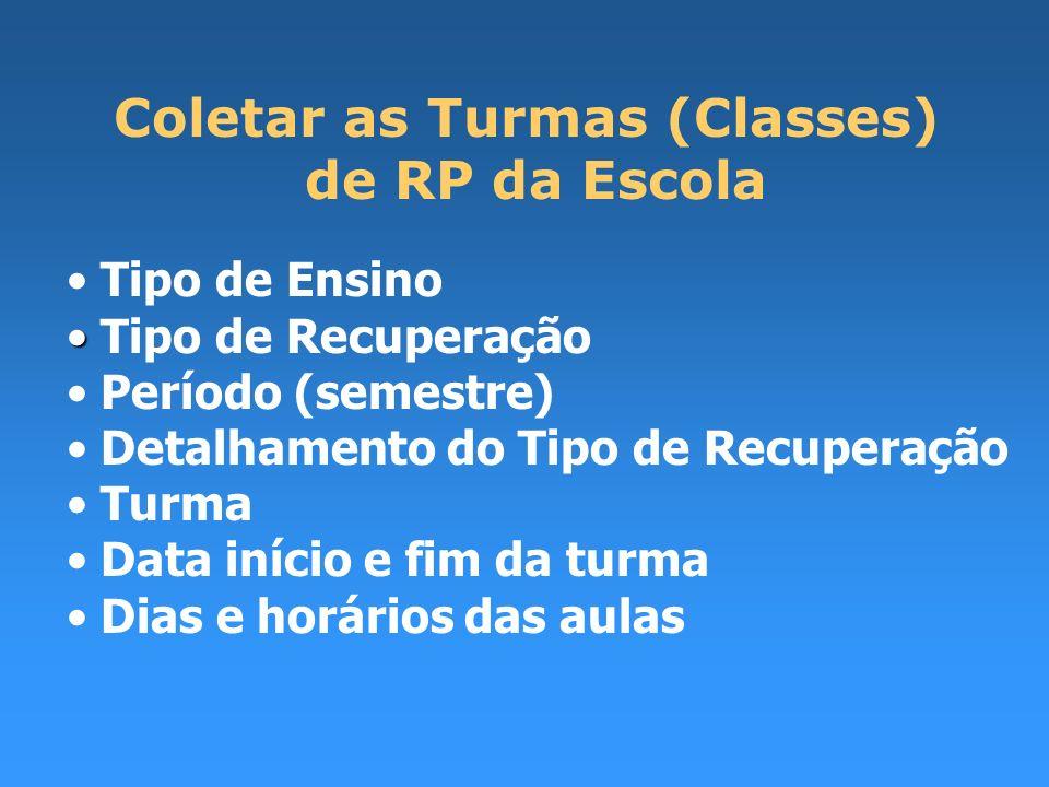 Tipo de Ensino Tipo de Recuperação Período (semestre) Detalhamento do Tipo de Recuperação Turma Data início e fim da turma Dias e horários das aulas C
