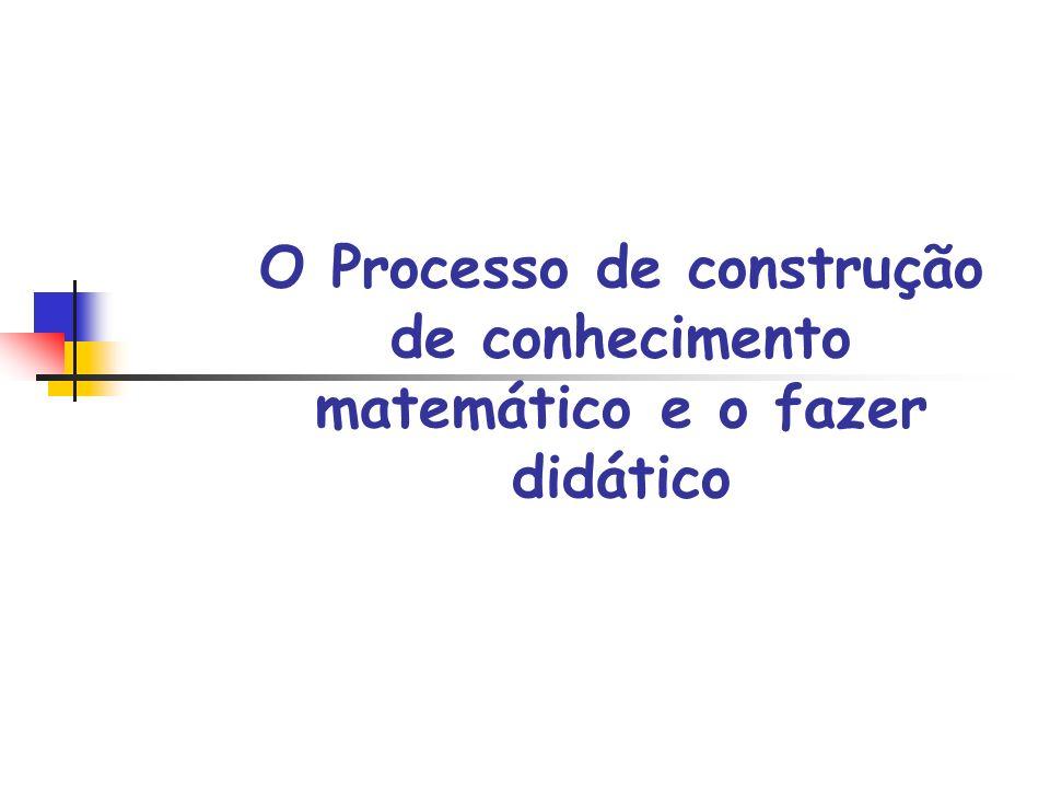 Seqüências Didáticas Sucessivas aproximações; Organizações e reorganizações de conceitos; Processo de ação; Formulação e validação de conhecimento.
