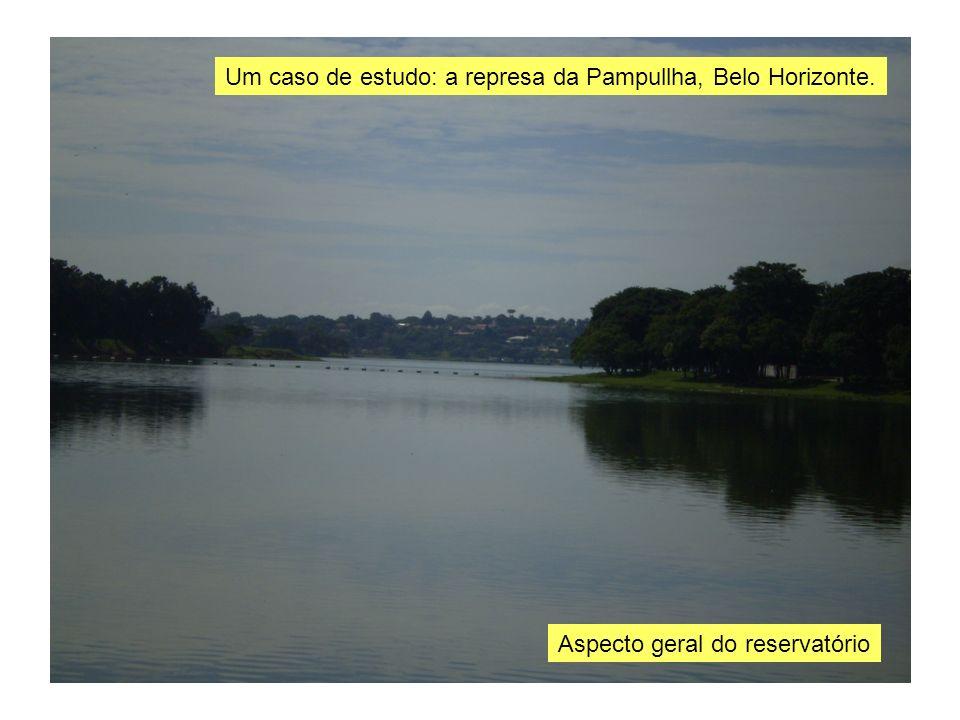 Aspecto geral do reservatório Um caso de estudo: a represa da Pampullha, Belo Horizonte.