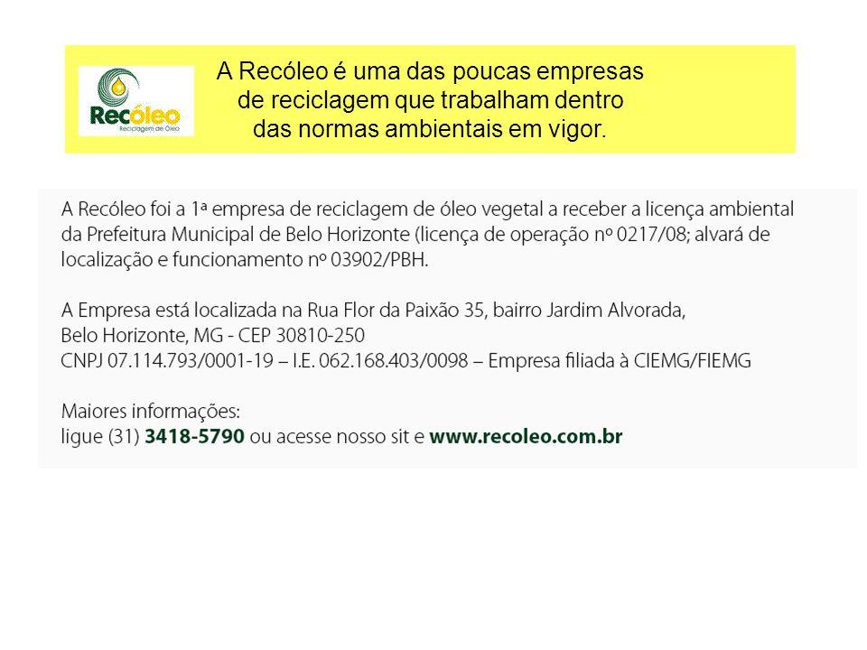 Projeto Pampulha Implantação de coleta domiciliar de óleo vegetal usado na bacia da Pampulha Pareceria entre a Recóleo, Ascóleo e a Regional Pampulha/Consórcio Pampulha.