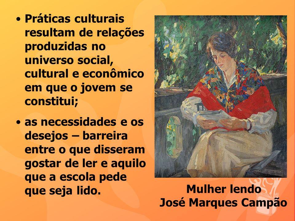 Práticas culturais resultam de relações produzidas no universo social, cultural e econômico em que o jovem se constitui; as necessidades e os desejos