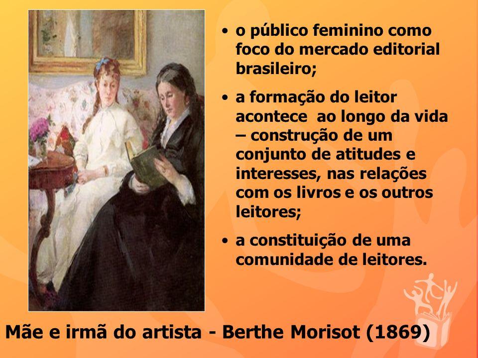 o público feminino como foco do mercado editorial brasileiro; a formação do leitor acontece ao longo da vida – construção de um conjunto de atitudes e interesses, nas relações com os livros e os outros leitores; a constituição de uma comunidade de leitores.