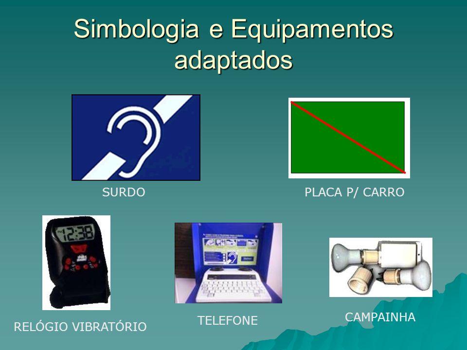 Simbologia e Equipamentos adaptados SURDOPLACA P/ CARRO RELÓGIO VIBRATÓRIO TELEFONE CAMPAINHA