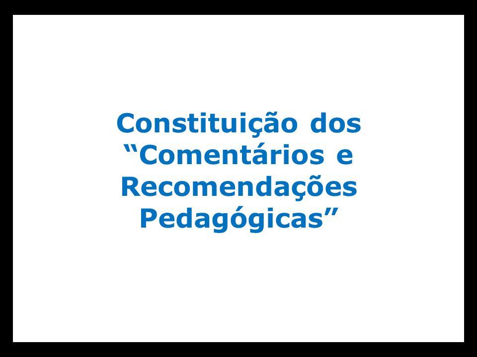 Constituição dos Comentários e Recomendações Pedagógicas