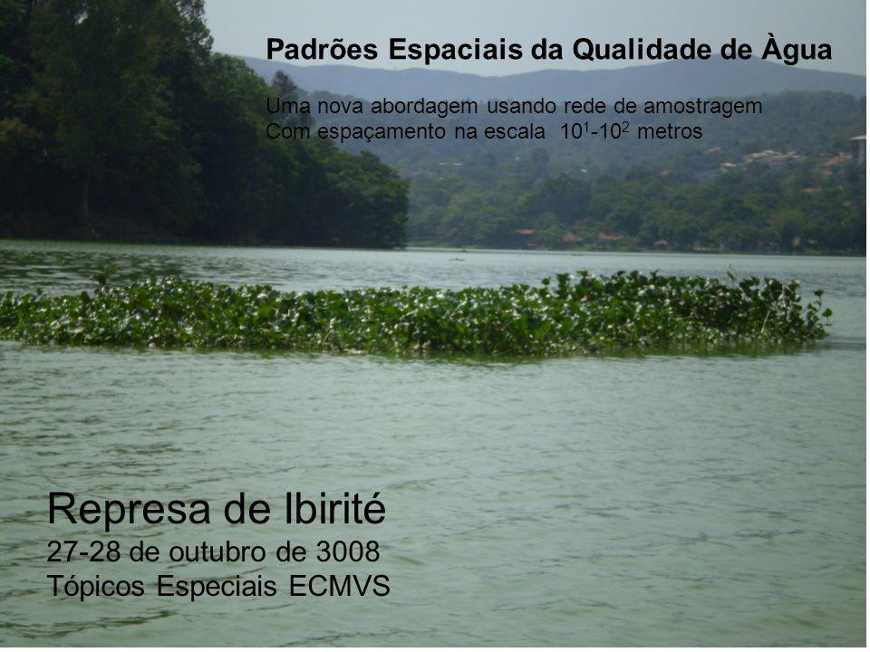 Represa de Ibirité 27-28 de outubro de 3008 Tópicos Especiais ECMVS Padrões Espaciais da Qualidade de Àgua Uma nova abordagem usando rede de amostrage