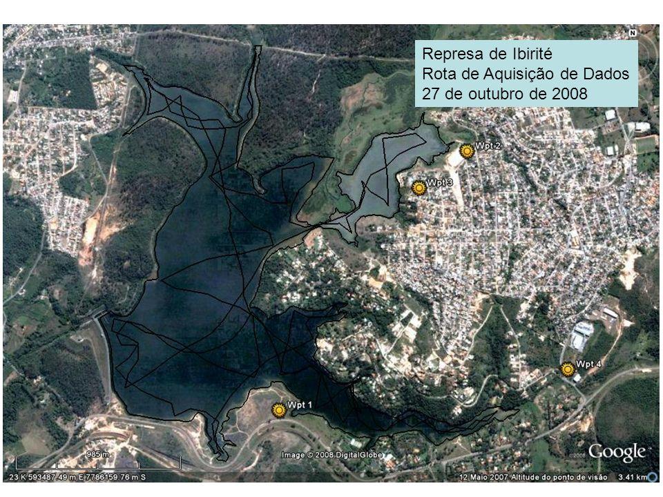 Represa de Ibirité Rota de Aquisição de Dados 27 de outubro de 2008