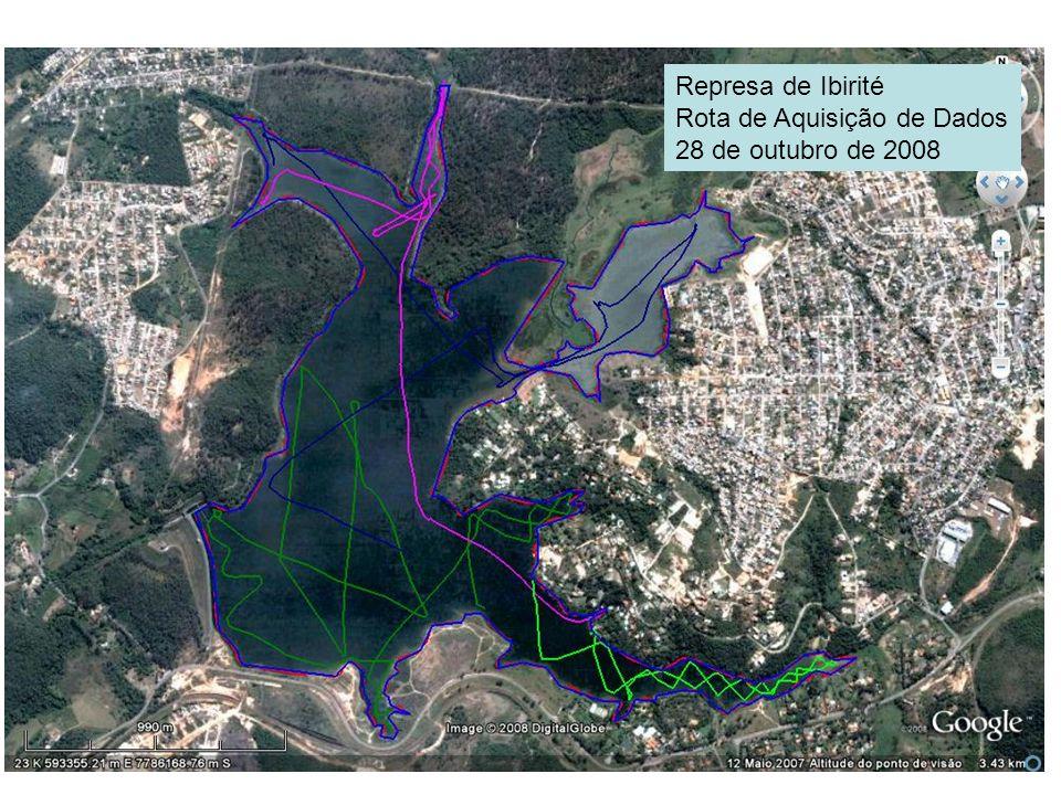 Represa de Ibirité Rota de Aquisição de Dados 28 de outubro de 2008