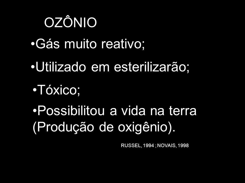 Gás muito reativo; Tóxico; Possibilitou a vida na terra (Produção de oxigênio).