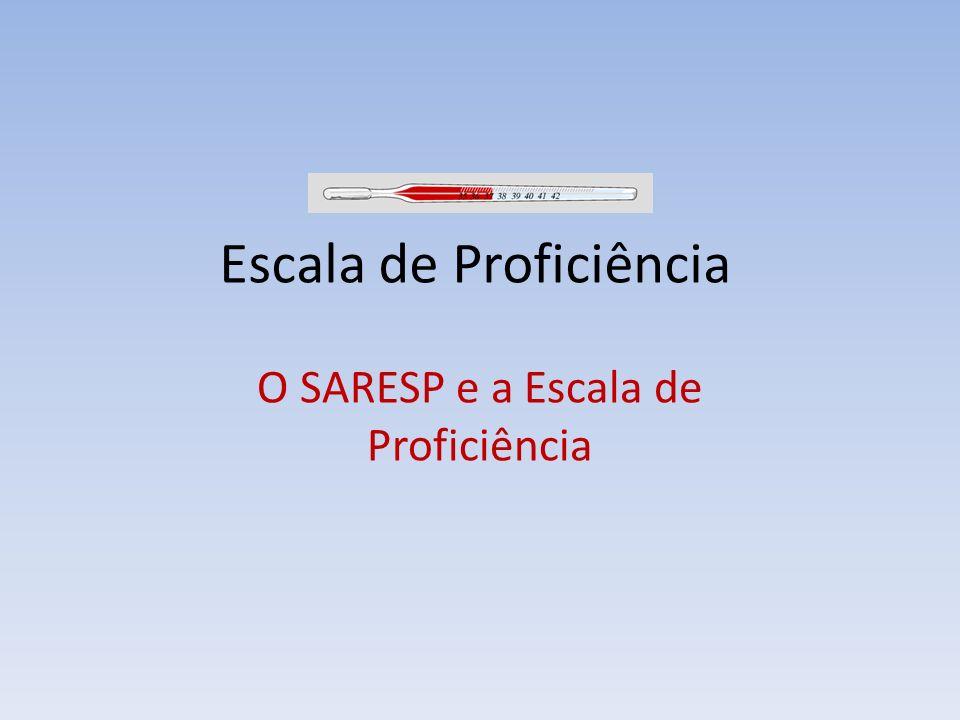 Escala de Proficiência O SARESP e a Escala de Proficiência