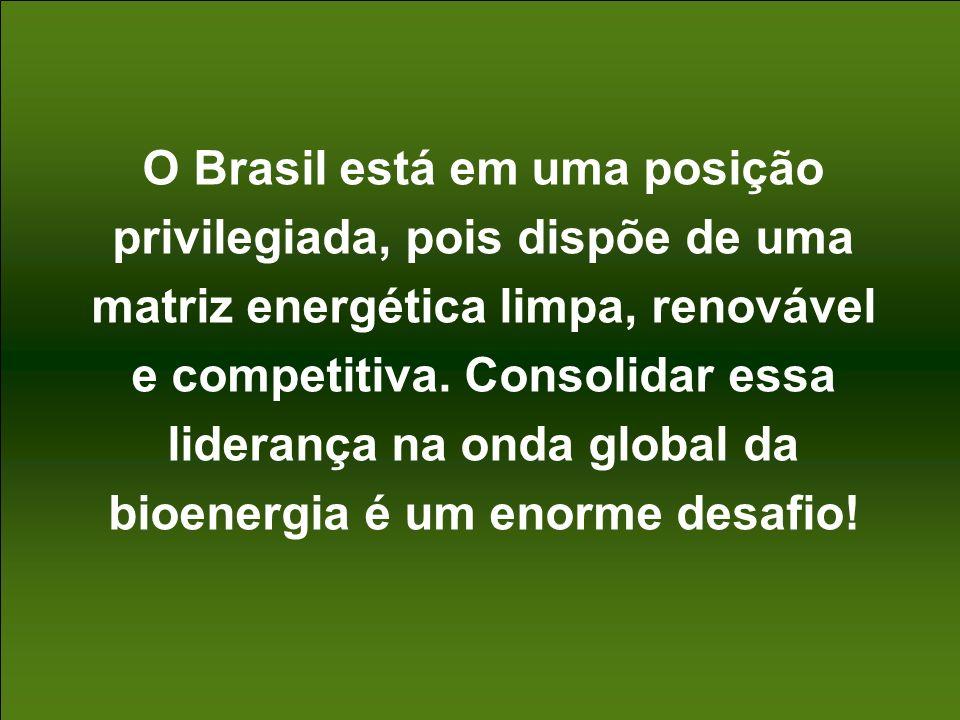 40 O Brasil está em uma posição privilegiada, pois dispõe de uma matriz energética limpa, renovável e competitiva. Consolidar essa liderança na onda g