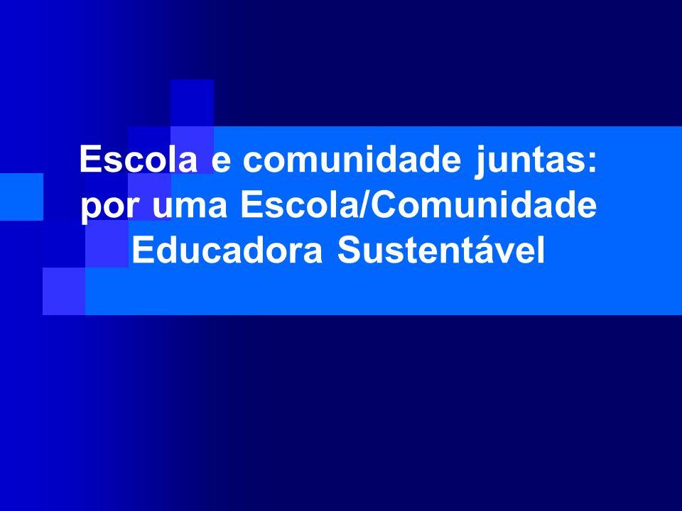 Escola e comunidade juntas: por uma Escola/Comunidade Educadora Sustentável