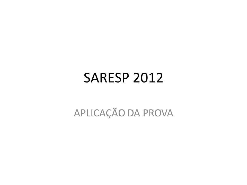 SARESP 2012 APLICAÇÃO DA PROVA