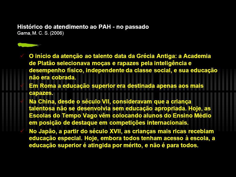 Histórico do atendimento ao PAH - no passado Gama, M.