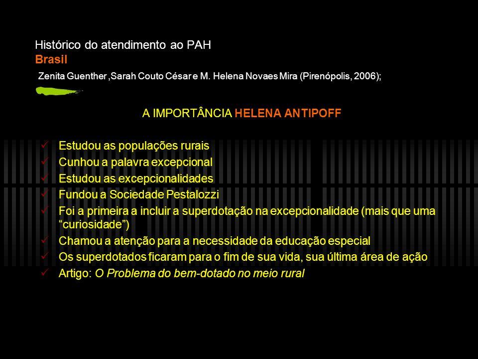 Histórico do atendimento ao PAH Brasil: Datas importantes Gama, M.