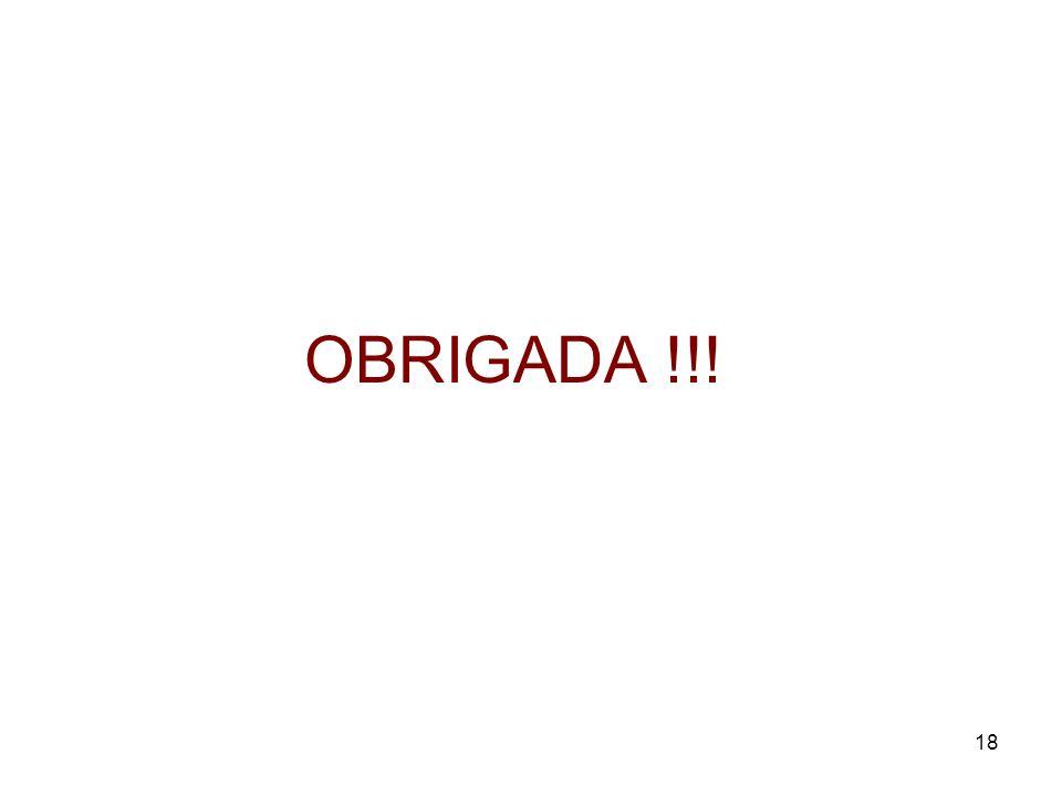 18 OBRIGADA !!!