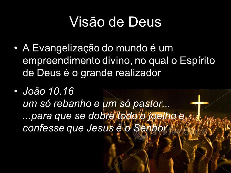 Visão de Deus A Evangelização do mundo é um empreendimento divino, no qual o Espírito de Deus é o grande realizador João 10.16 um só rebanho e um só p
