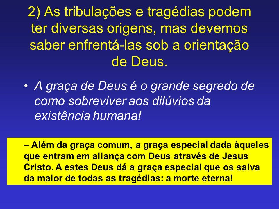 A graça de Deus é o grande segredo de como sobreviver aos dilúvios da existência humana! – Além da graça comum, a graça especial dada àqueles que entr