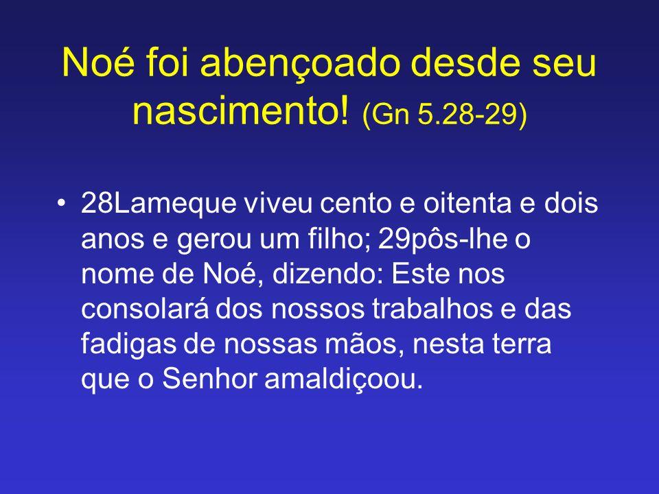 28Lameque viveu cento e oitenta e dois anos e gerou um filho; 29pôs-lhe o nome de Noé, dizendo: Este nos consolará dos nossos trabalhos e das fadigas