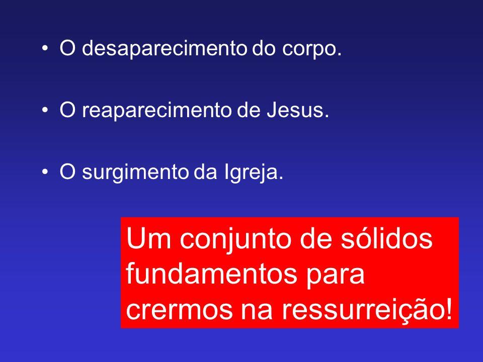 O desaparecimento do corpo. O reaparecimento de Jesus. O surgimento da Igreja. Um conjunto de sólidos fundamentos para crermos na ressurreição!