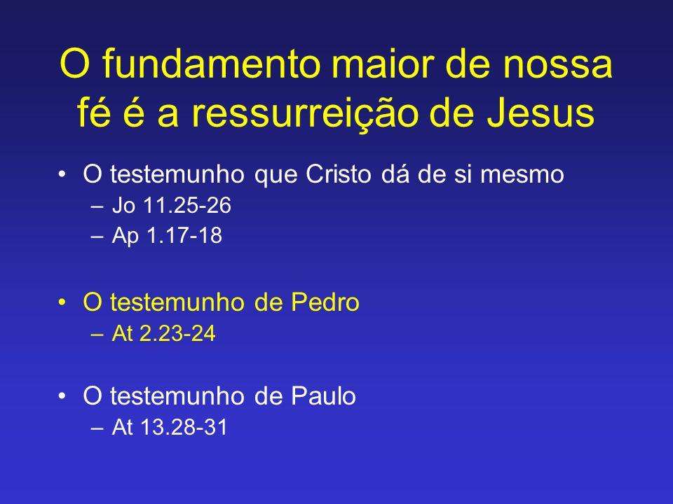 Significado da ressurreição: A questão semântica A ressurreição foi um ato dramático de Deus, através do qual ele interferiu no processo natural de corrupção e decomposição.