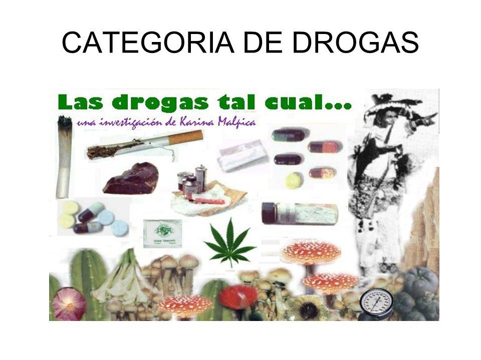 CATEGORIA DE DROGAS